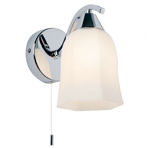 Alonso Wall Lamp, Chrome/White Glass 96961-WBCH